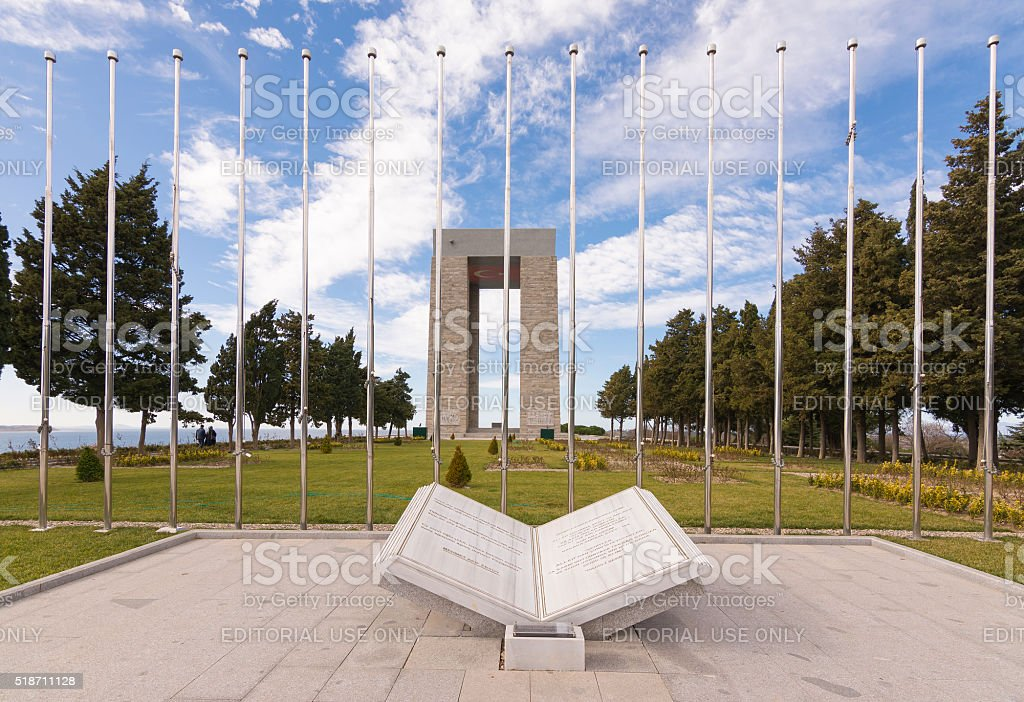 The Canakkale Martyrs Memorial ( Abide ), Gallipoli stock photo