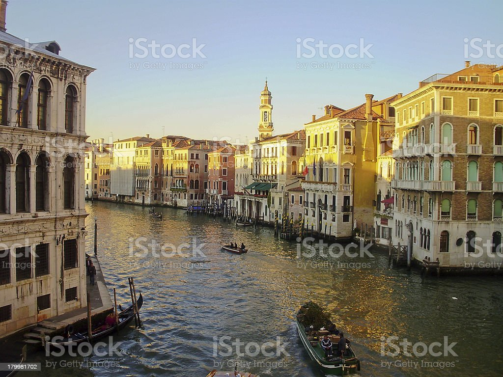 The canals of Venice, Italy. royalty-free stock photo