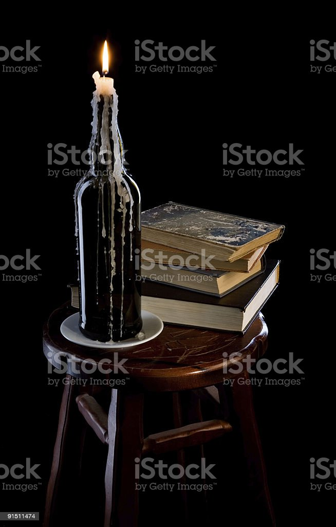 the  candle in a bottle royalty-free stock photo