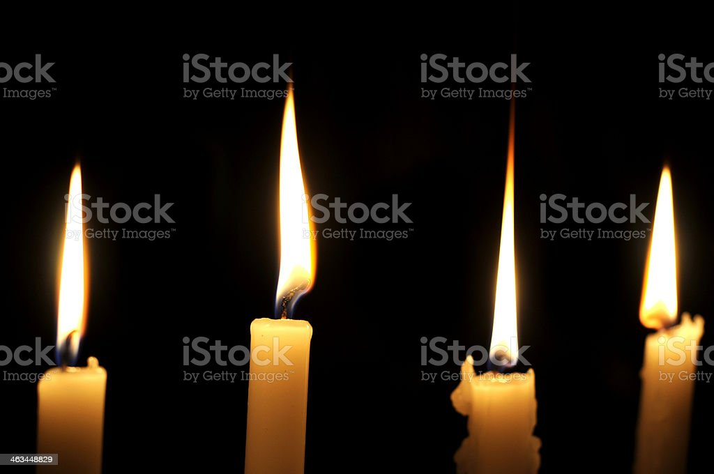 The candles royalty-free stock photo