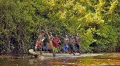 The Canoe war ceremony
