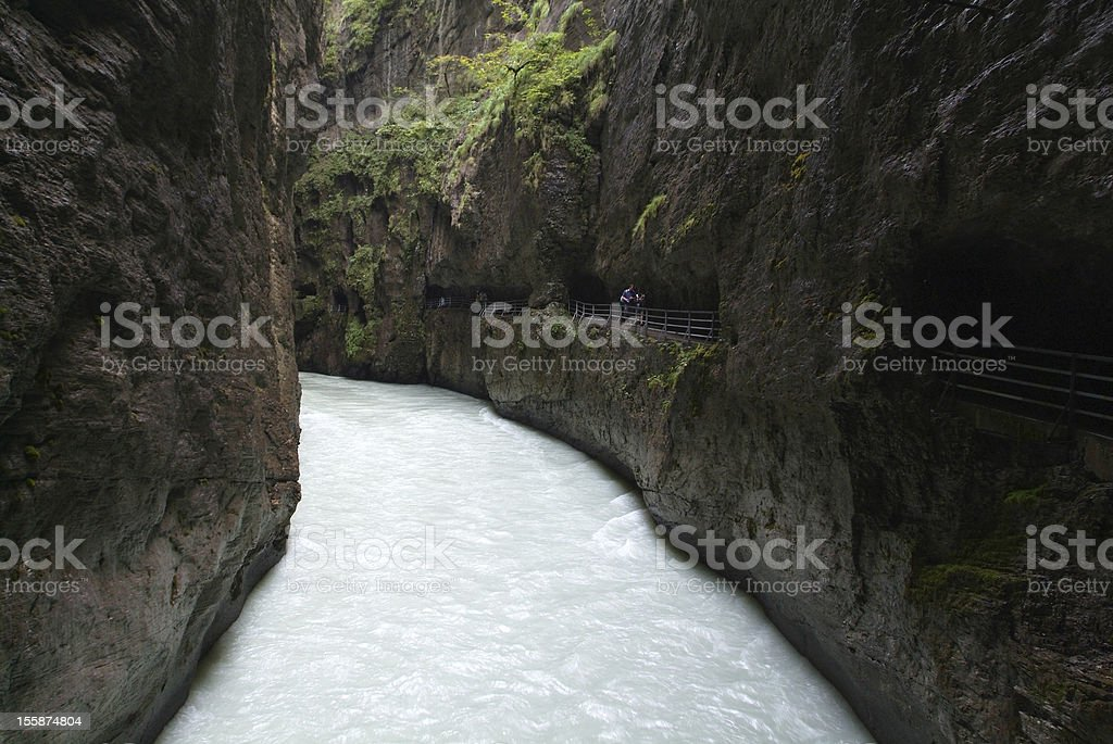 The canyon of river Aare stock photo