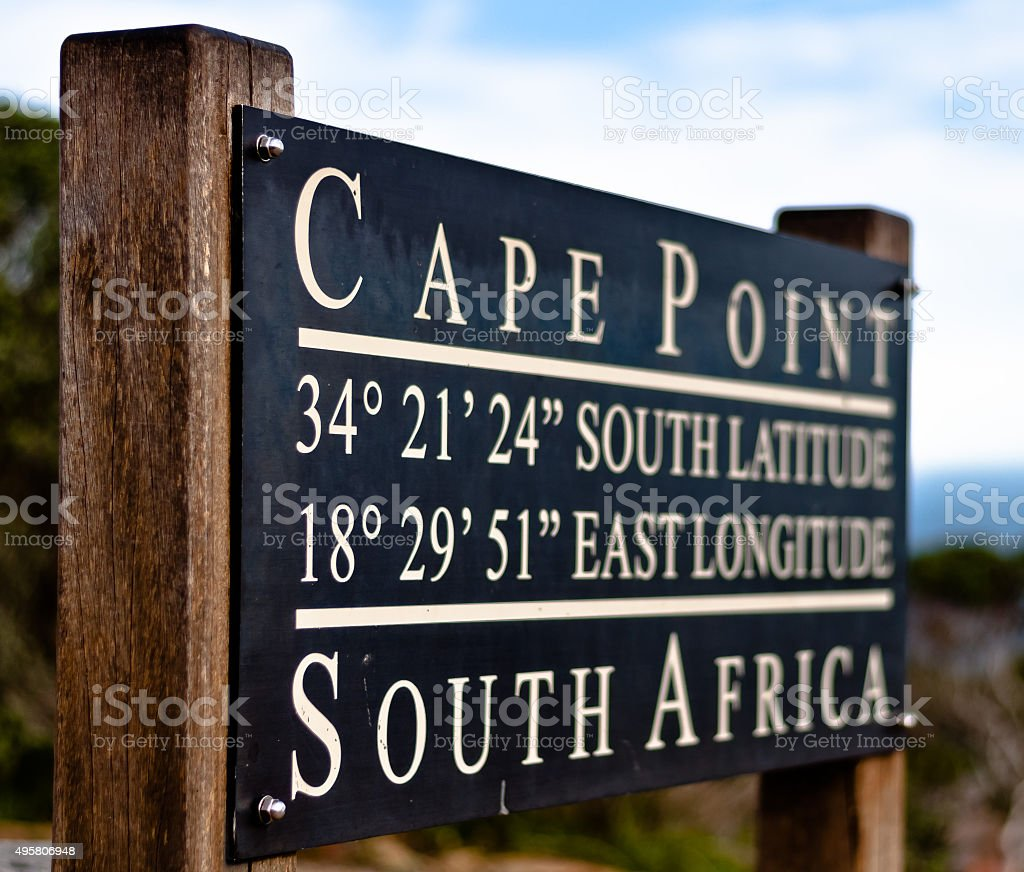 The Cape Point in South Africa stock photo