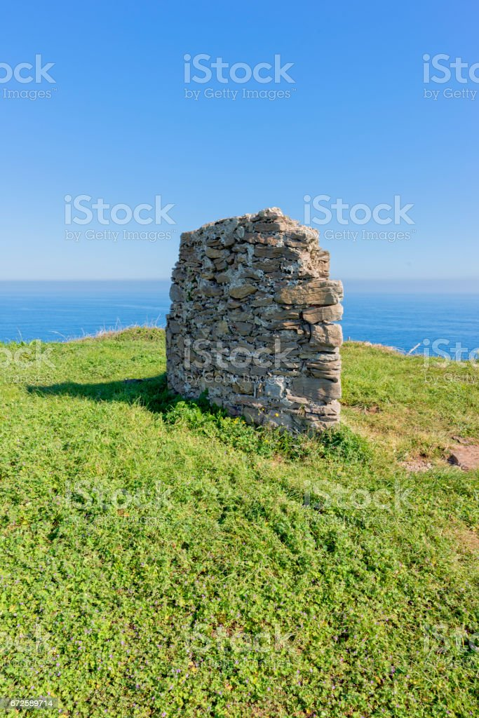 The cape quejo in the province of cantabria stock photo