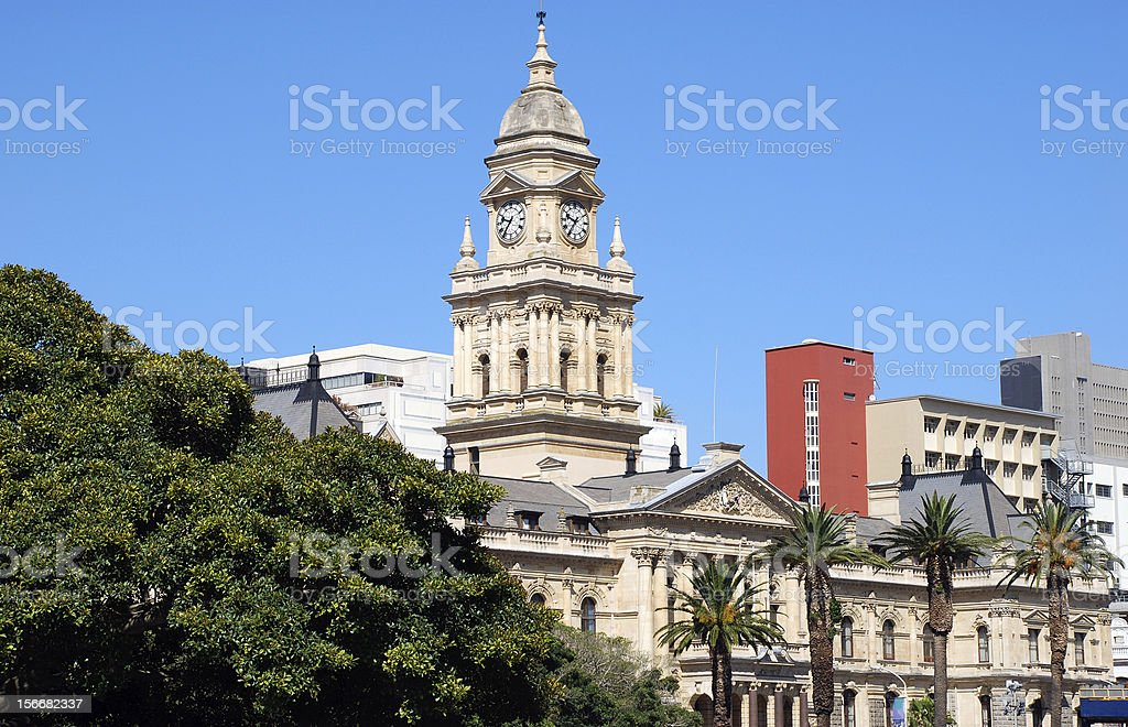 The Cape Town City Hall (Capetown, South Africa) royalty-free stock photo