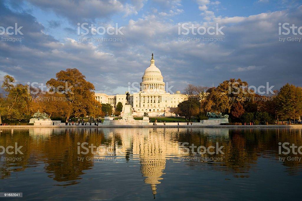 The capital building in Washington DC stock photo
