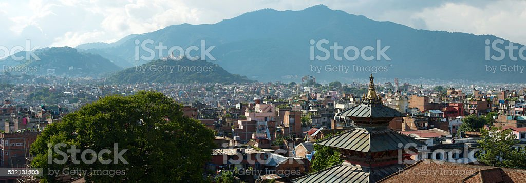 The capital of Nepal is Kathmandu stock photo