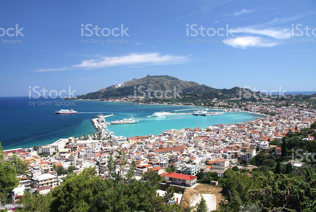 The capital of the island of Zakynthos stock photo