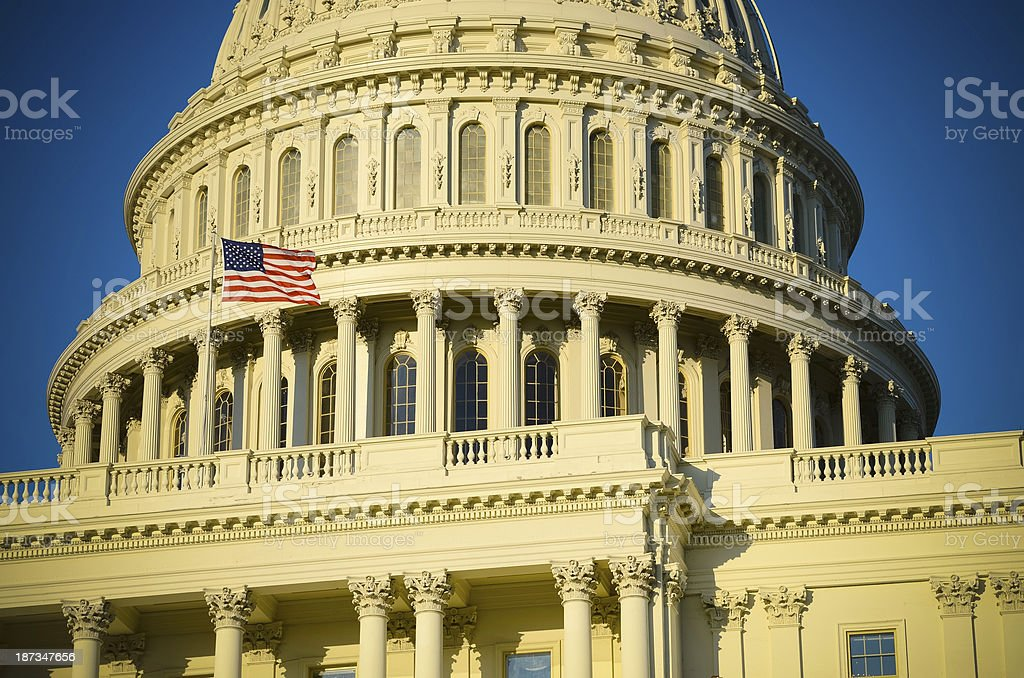 The Capitol Building Dome in Washington DC royalty-free stock photo