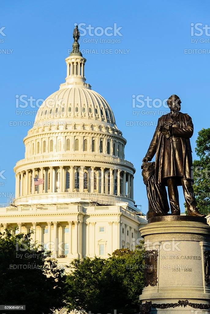 The Capitol Building Dome in Washington DC stock photo