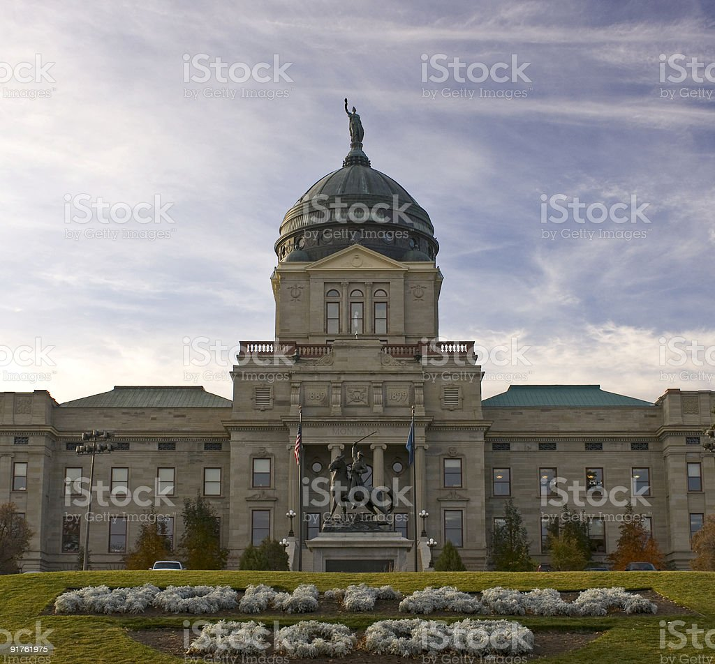 The Capitol Building in Montana State stock photo