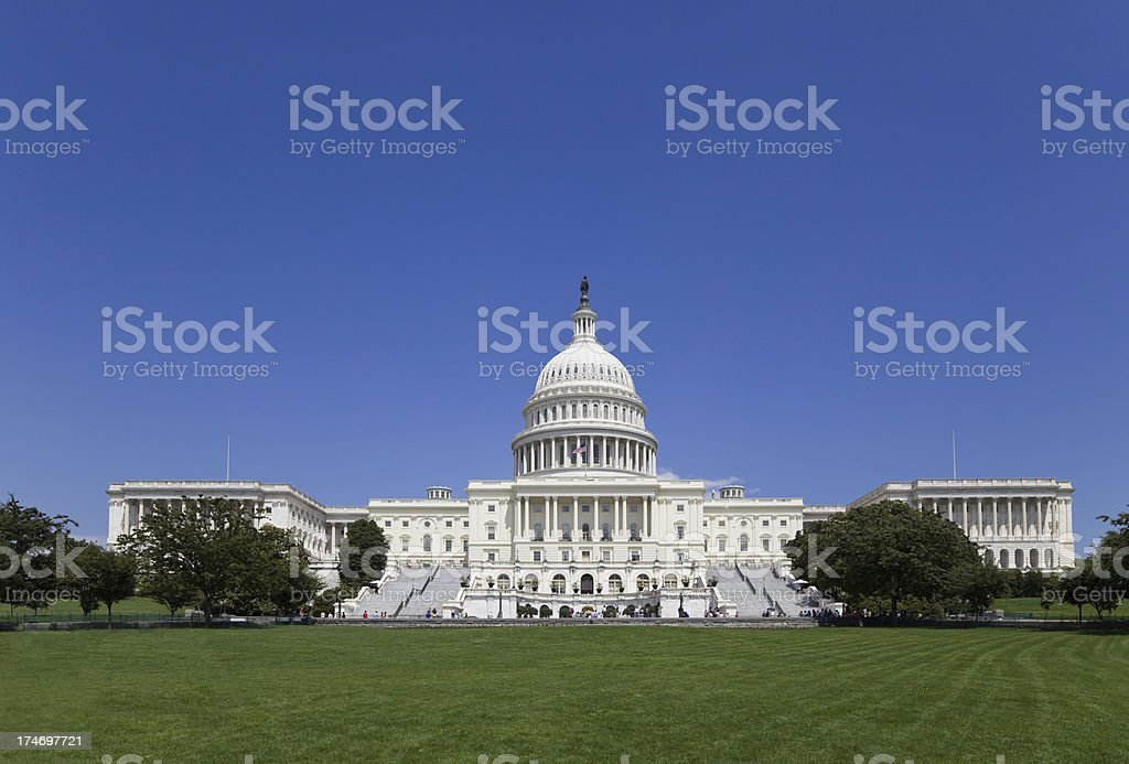 The Capitol Building - Seat of United States Senate (XXL) stock photo