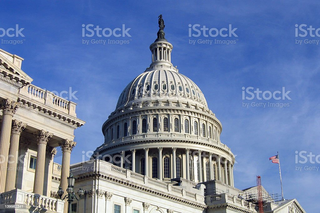 The Capitol Dome in Washington D.C stock photo