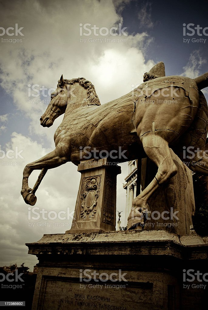 il campidoglio - rome stock photo