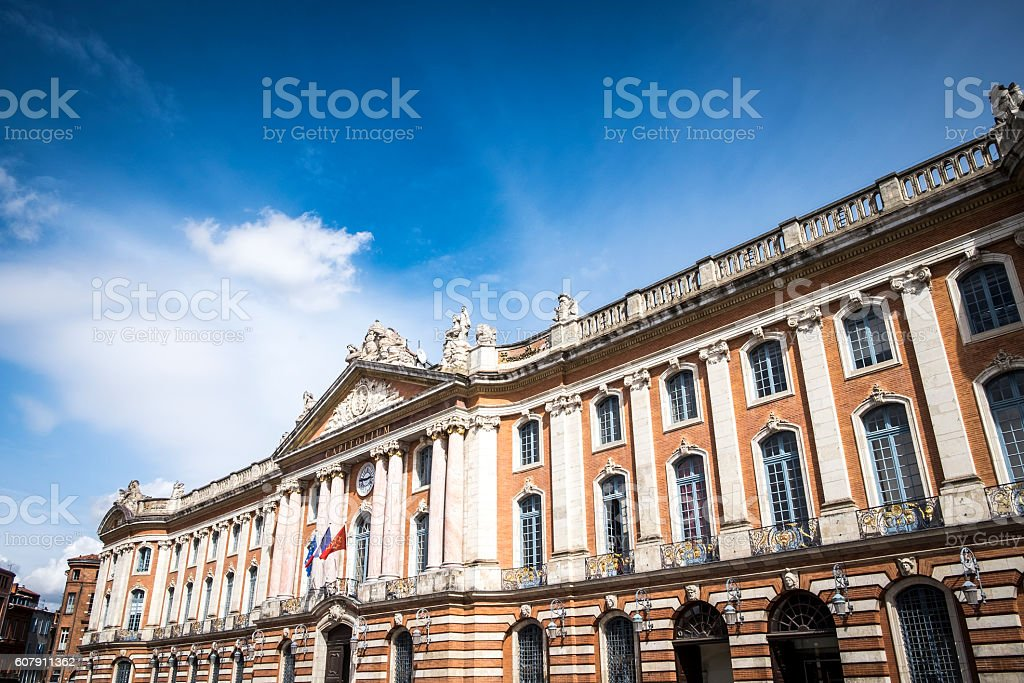The Capitole City Hall of Toulouse stock photo