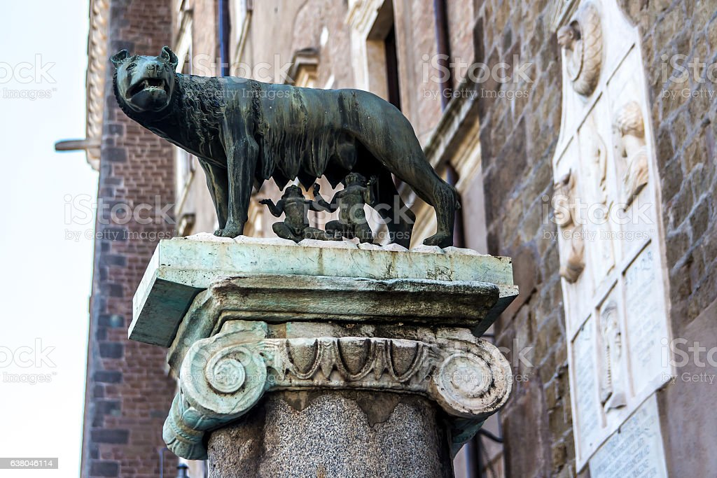 The Capitoline Wolf stock photo
