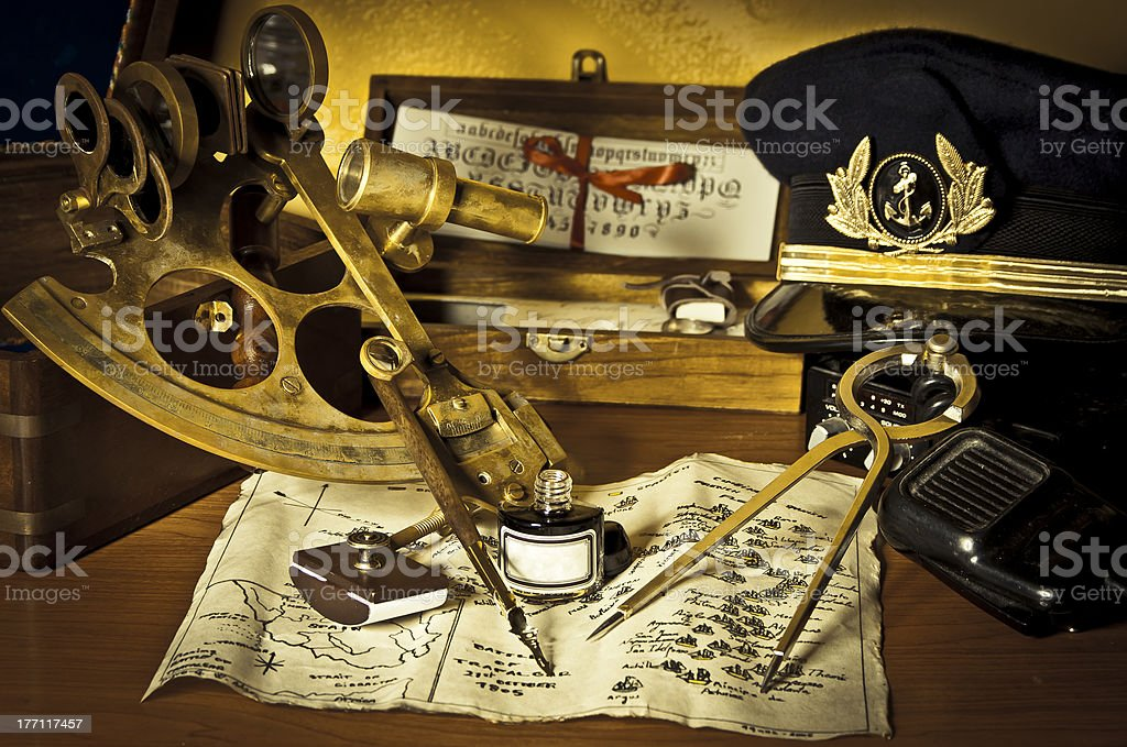 The captain's deck royalty-free stock photo