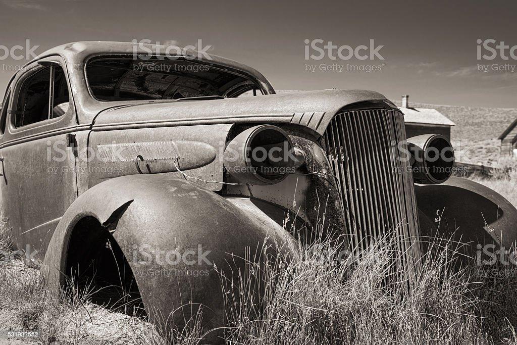 The Car in Bodie California stock photo