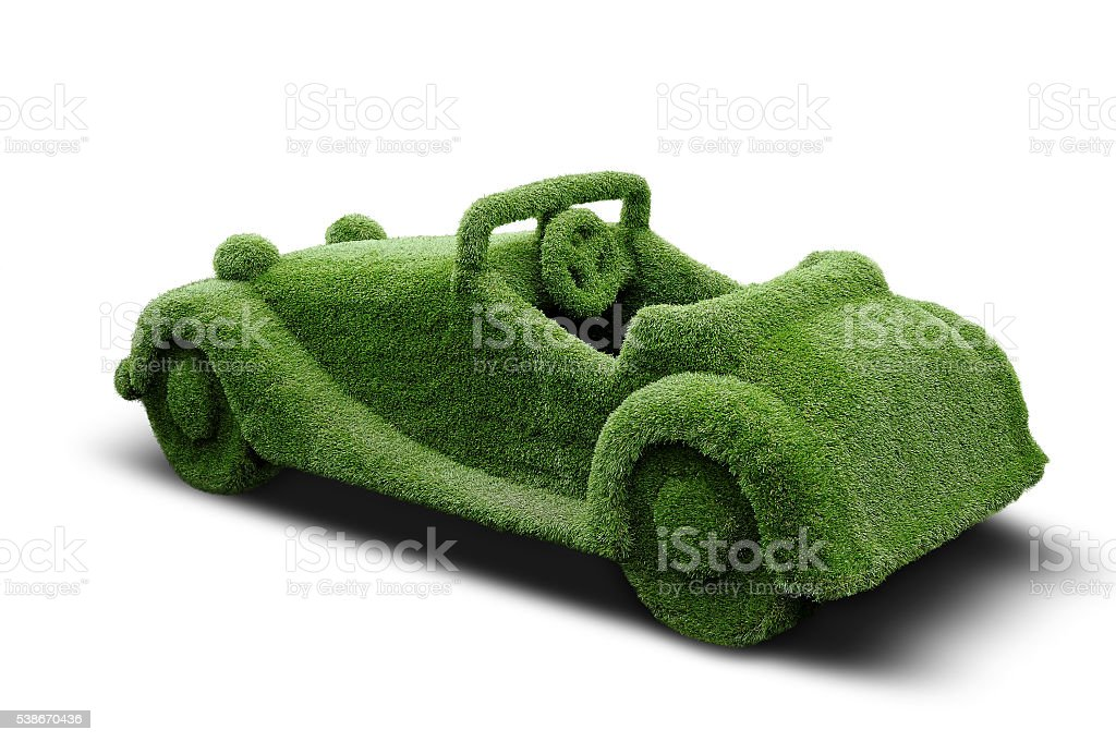 The car made of grass. stock photo