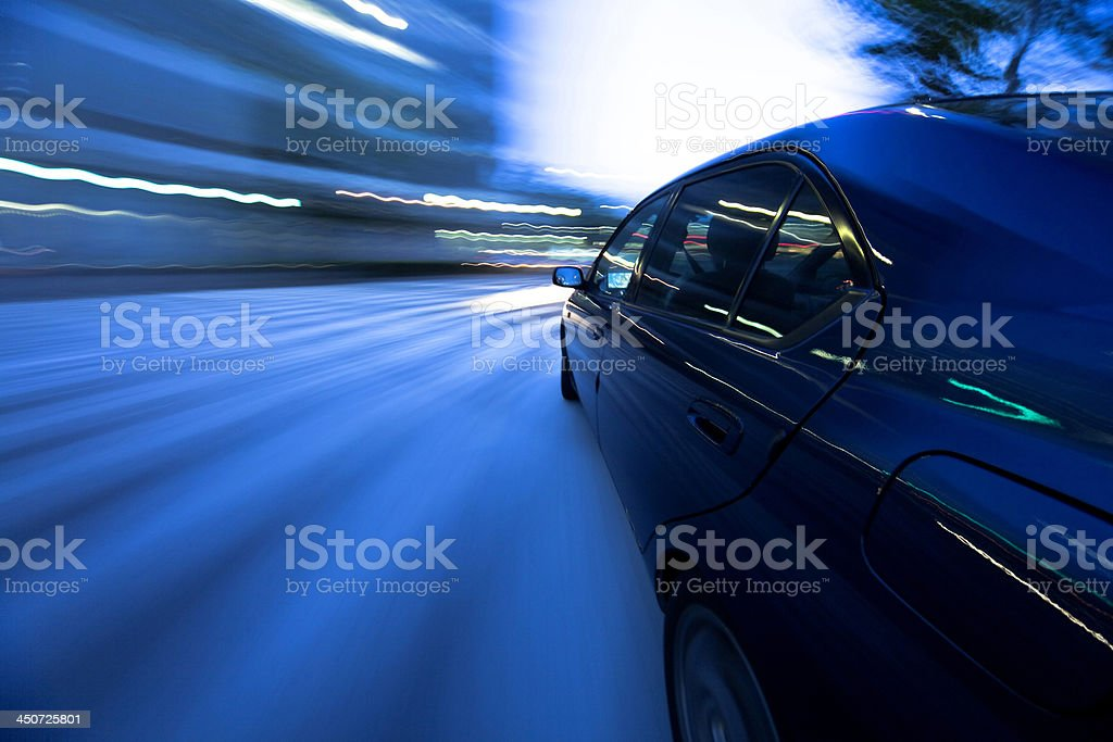 The car moves at great speed royalty-free stock photo