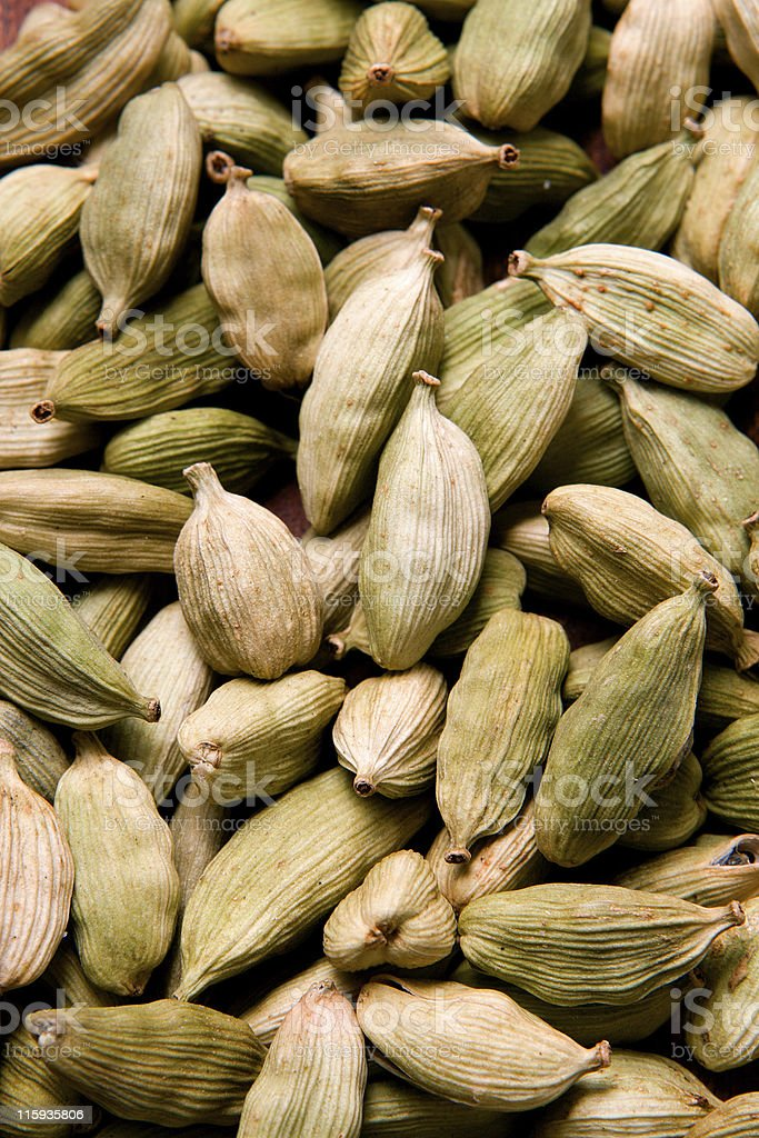 The cardamom seeds royalty-free stock photo
