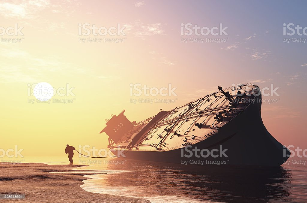 The cargo ship stock photo