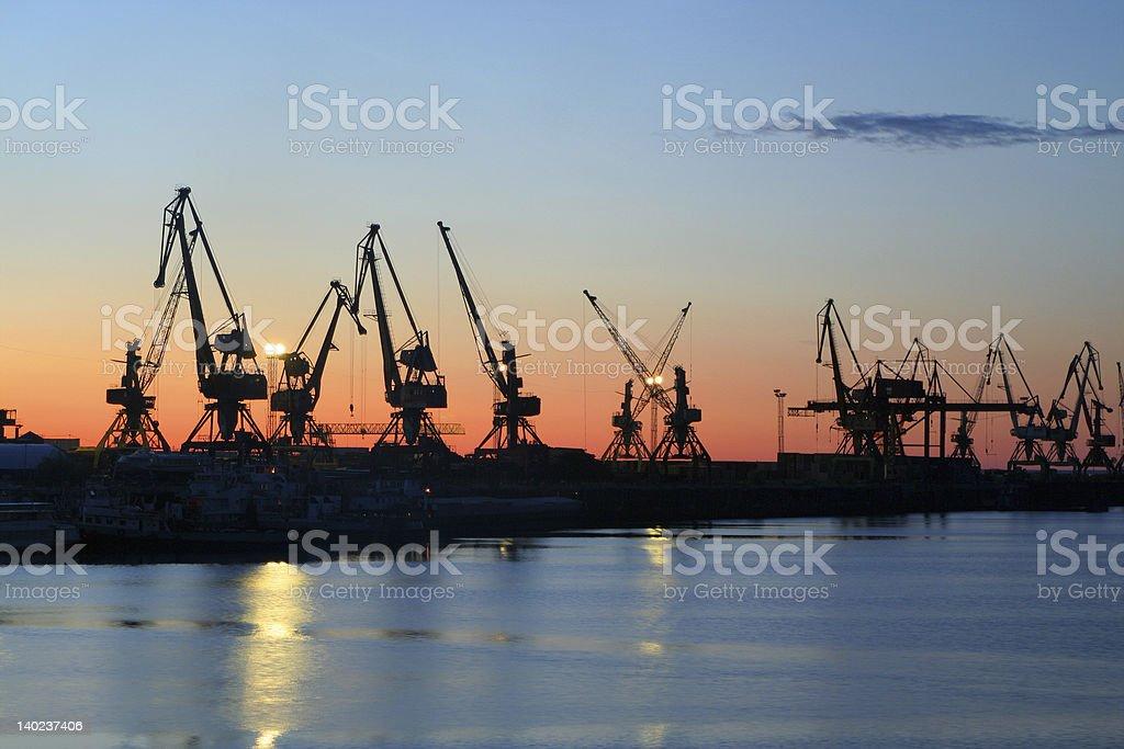 The cargo terminal. stock photo