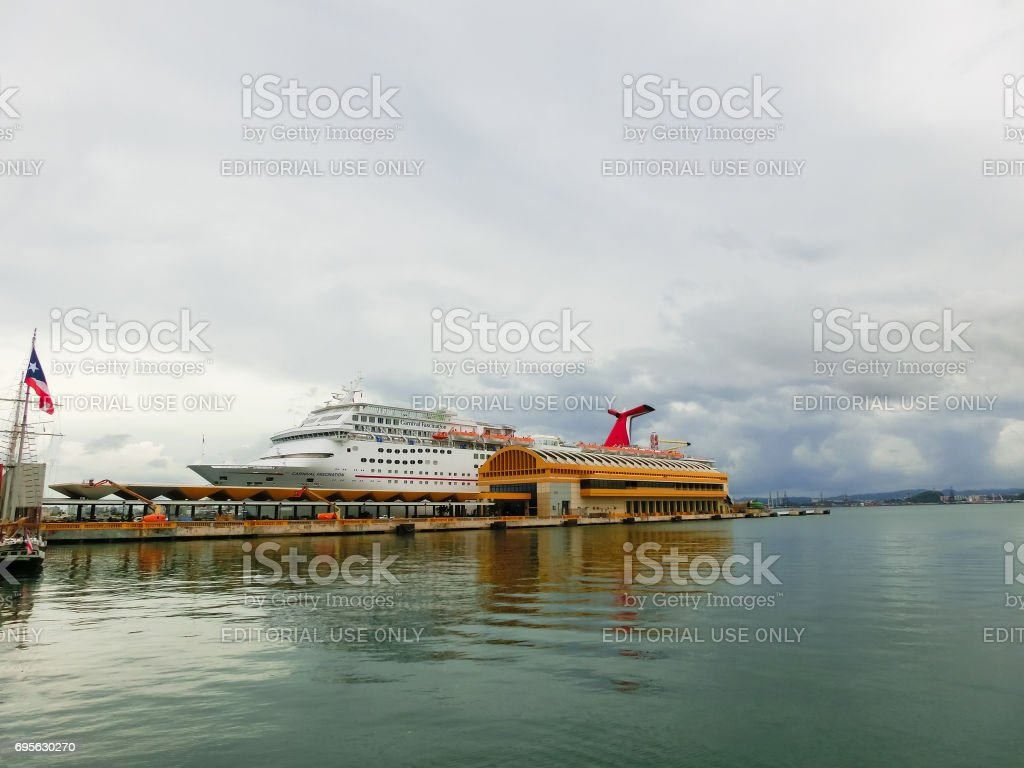 San Juan, Puerto Rico - May 08, 2016: The Carnival Cruise Ship Fascination at dock stock photo