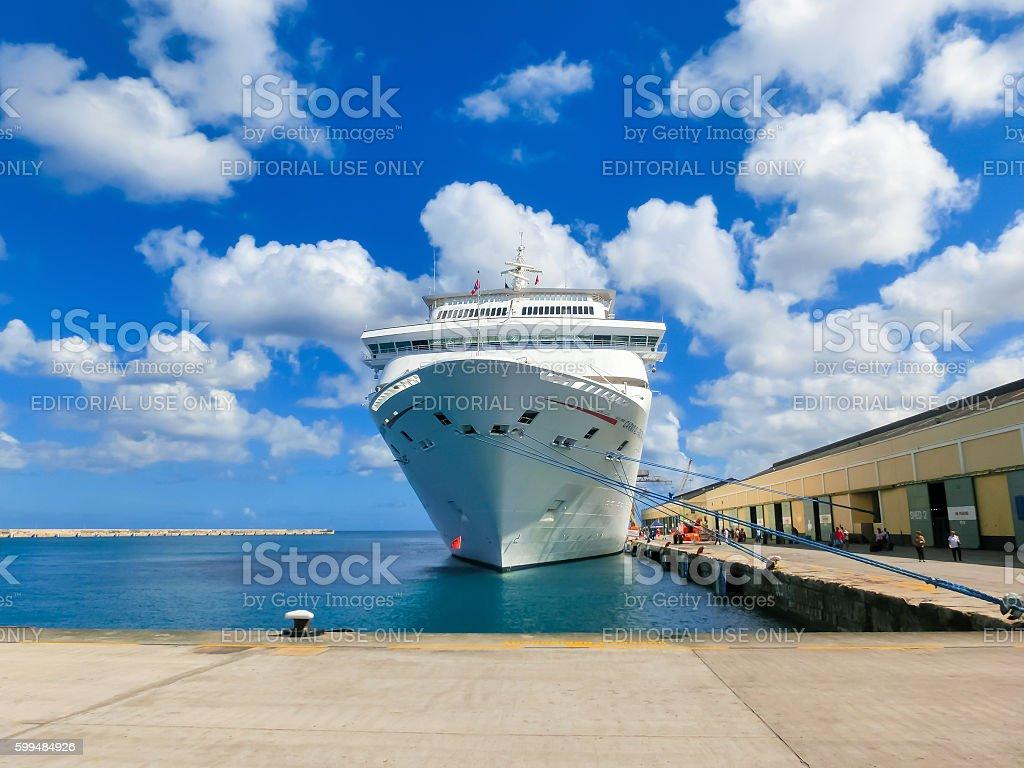 Barbados - May 11, 2016: The Carnival Cruise Ship Fascination stock photo