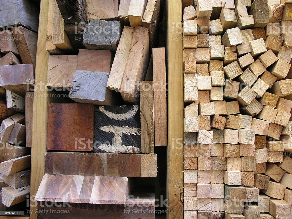The carpenters off-cuts stock photo