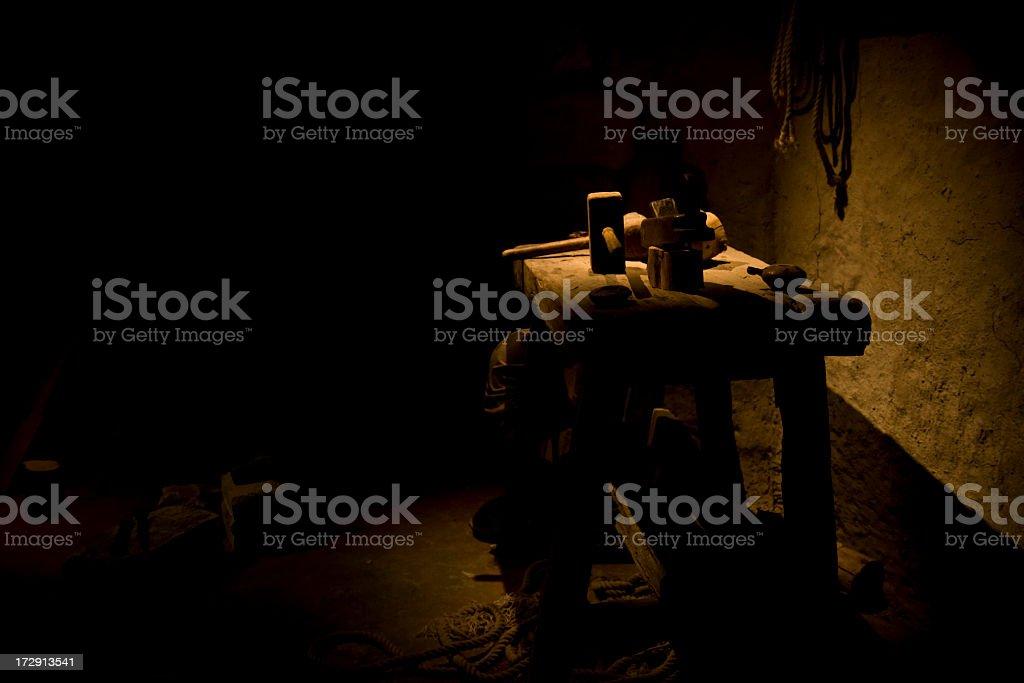 The Carpenters Room stock photo
