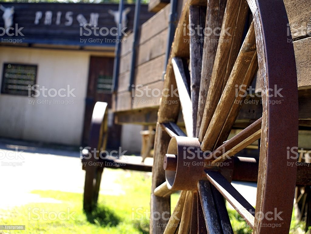 The carriage and prison stock photo