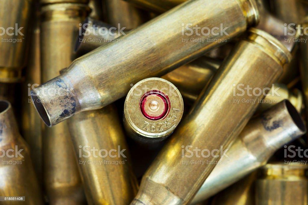 the cartridge cases stock photo