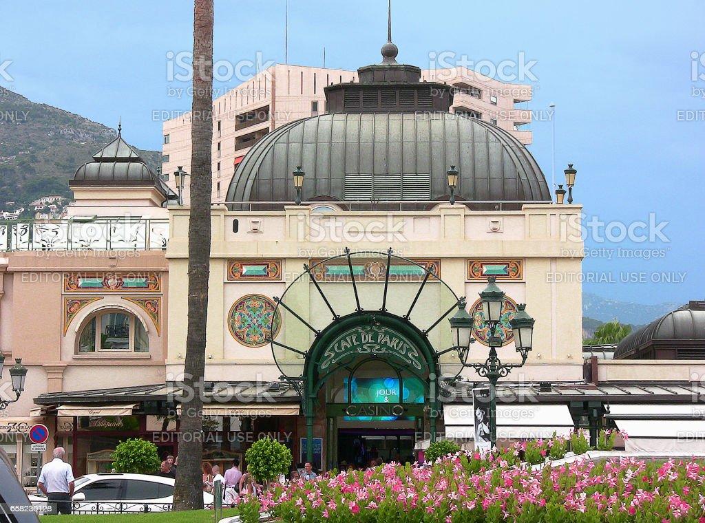 the Casino square with the entrance of the Cafè de Paris stock photo