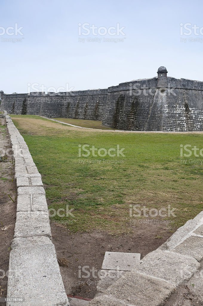 The Castillo San Marcos, St. Augustine, Florida royalty-free stock photo