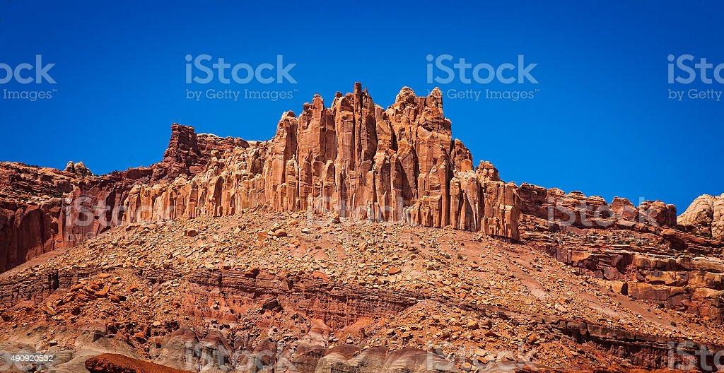 O castelo, a Capital de corais National Park, Utah, EUA. foto royalty-free