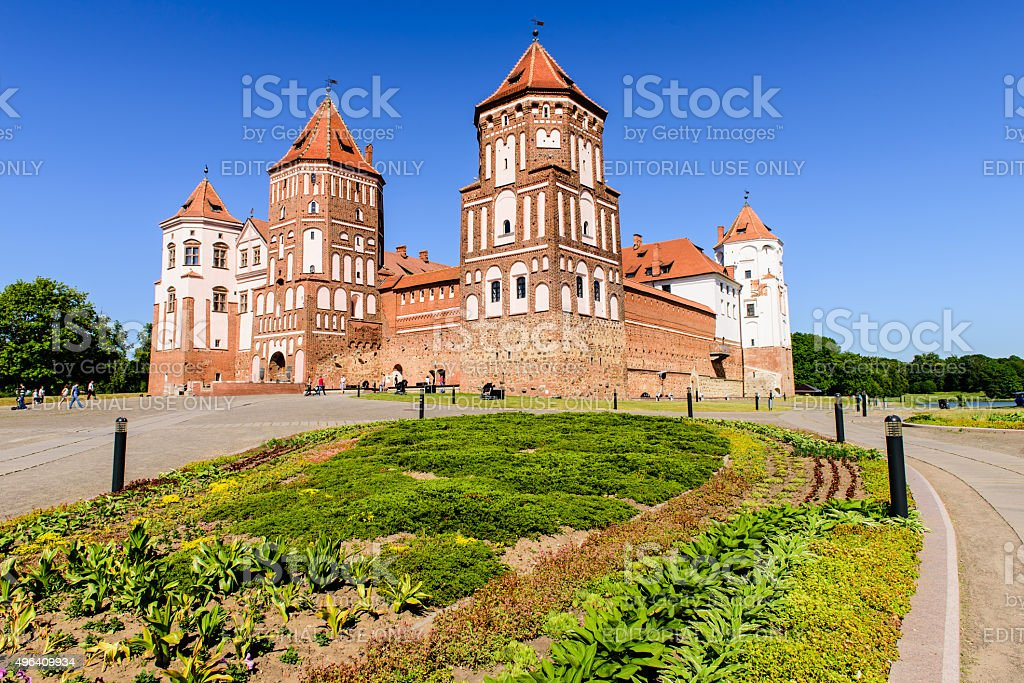 the castle complex 'Mir' stock photo