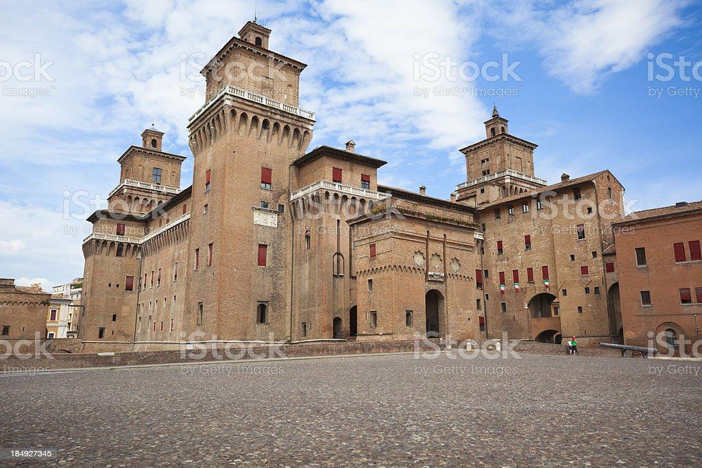 The Castle Estense in Ferrara stock photo
