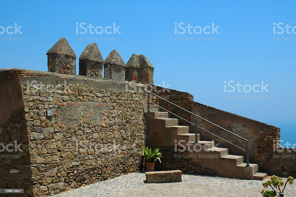 The Castle in Malaga royalty-free stock photo