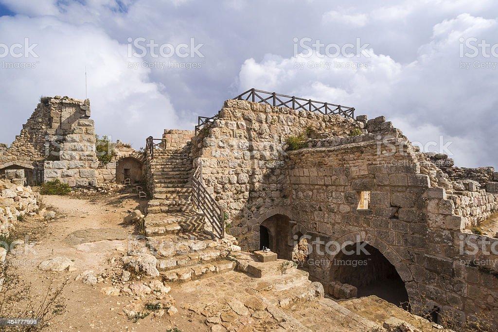 The castle of Ajloun stock photo