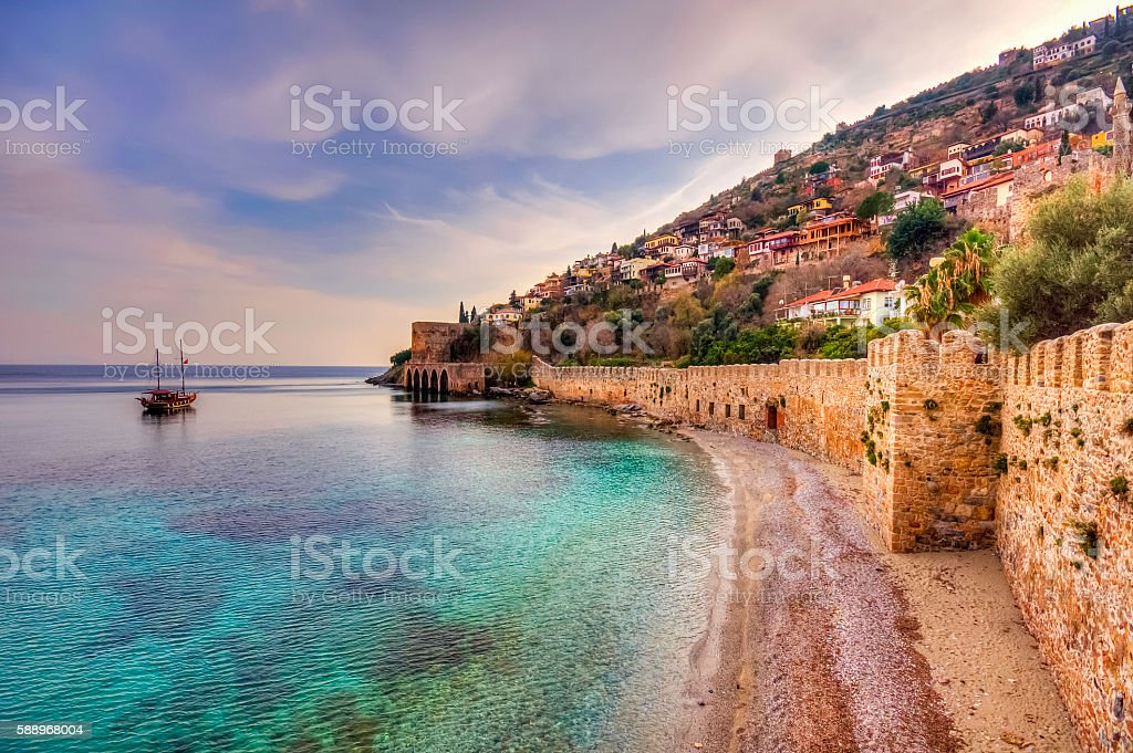 The castle of Alanya stock photo
