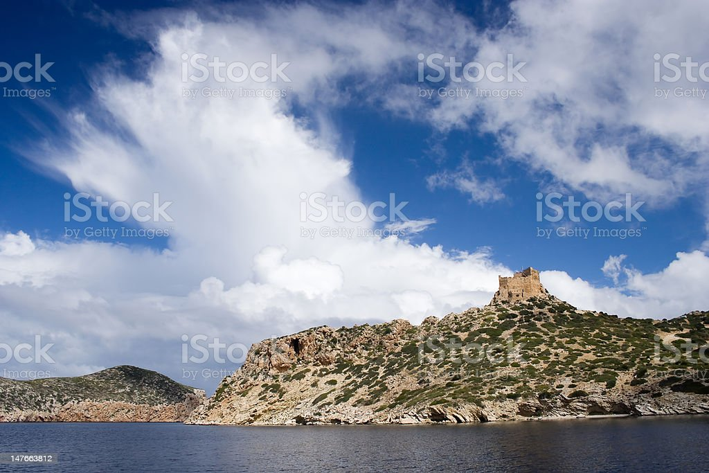 The castle of Cabrera. royalty-free stock photo