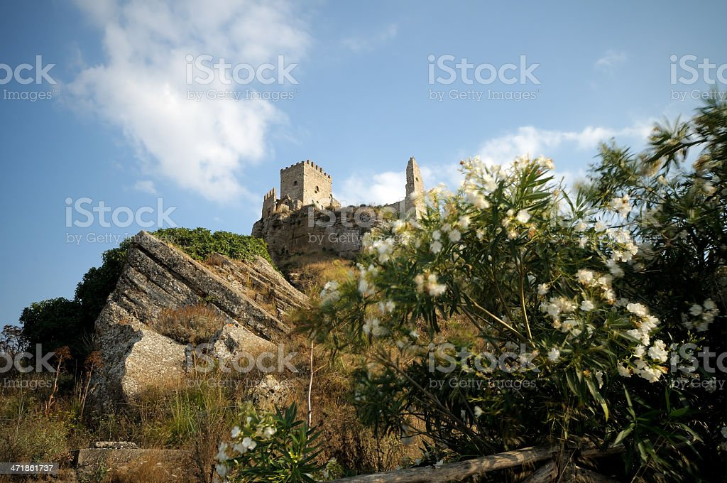 The Castle of Cefalà Diana in Sicily (Palermo) royalty-free stock photo