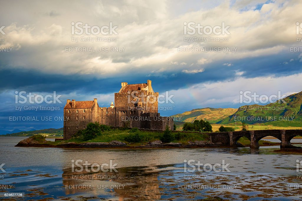 The Castle Of Eileen Donan In Scotland stock photo