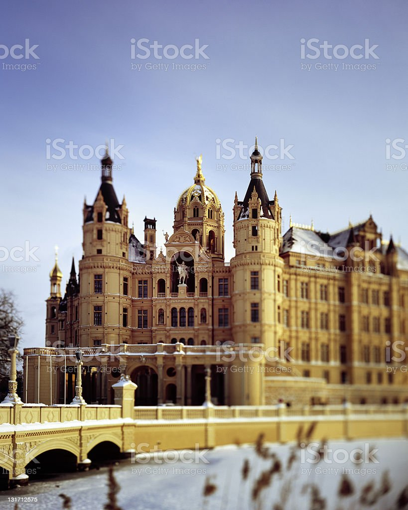The castle of Schwerin in Mecklenburg West Pomerania stock photo