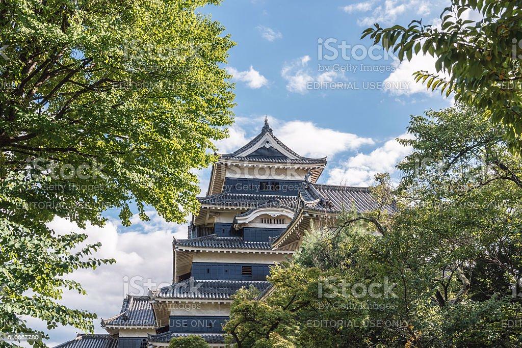 The castle tower of Matsumoto-jo Castle stock photo