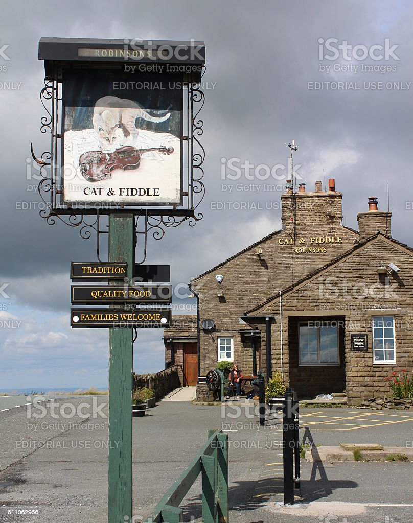The Cat and Fiddle Pub stock photo