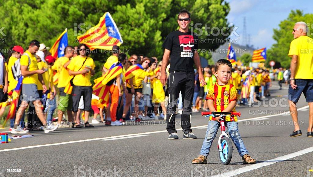The Catalan Way, in Ametlla de Mar stock photo