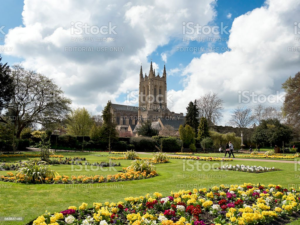 The Cathedral and Abbey Gardens, Bury St Edmunds stock photo