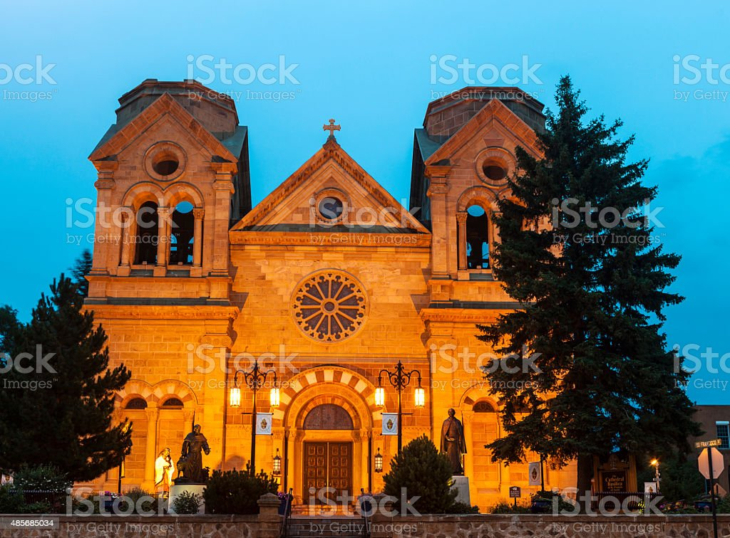 The Cathedral Basilica Of Saint Francis In Santa Fe stock photo